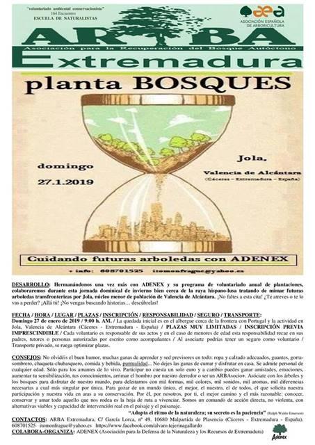 Voluntariado ambiental conservacionista || ARBA Extremadura