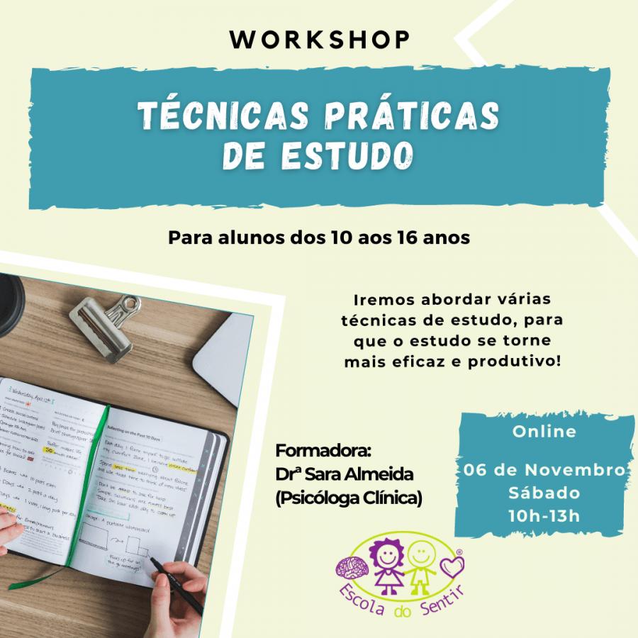 Workshop 'Técnicas práticas de estudo'