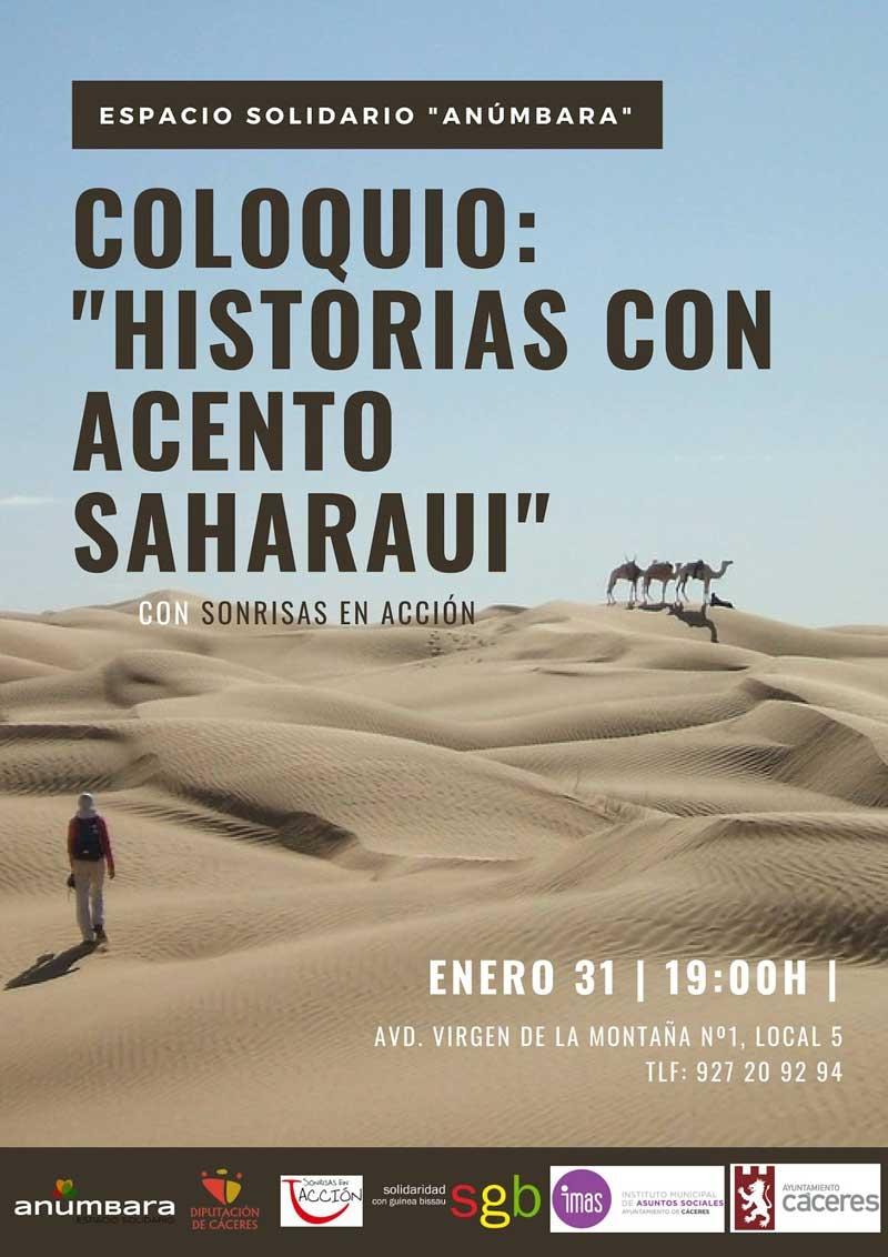"Coloquio: ""Historias con acento Saharaui"""