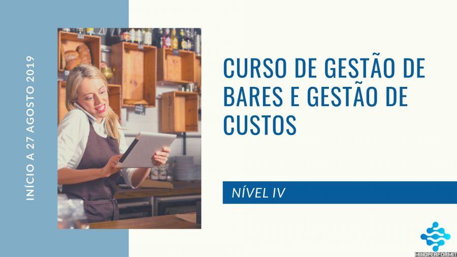 CURSO DE GESTÃO DE BARES E GESTÃO DE CUSTOS