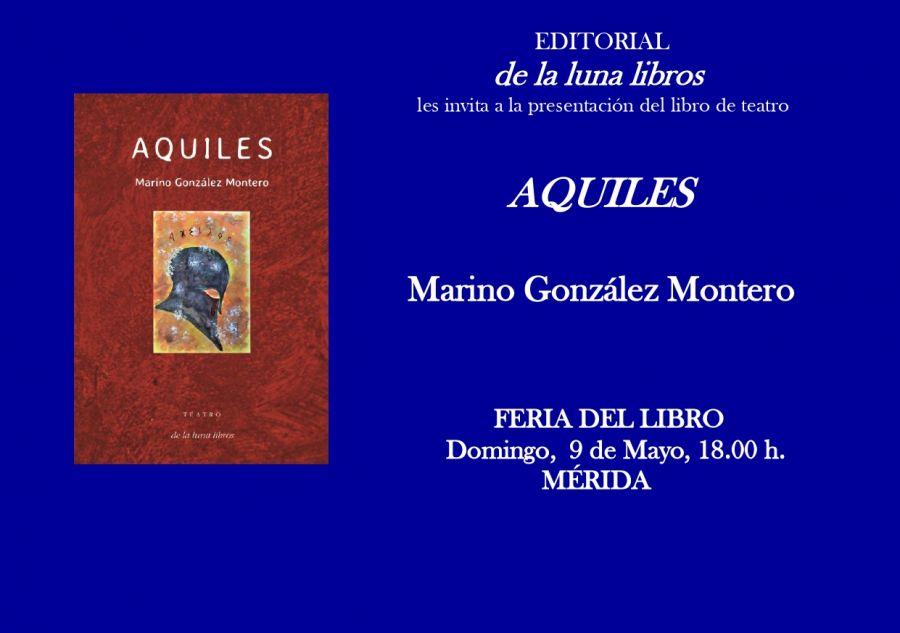 Presentación del libro de teatro Aquiles en la Feria del Libro de Mérida