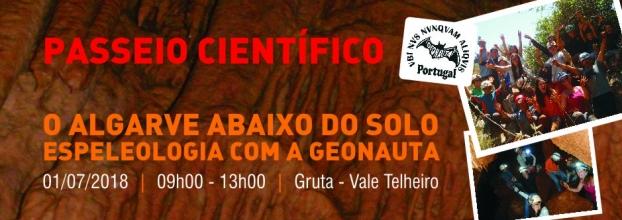 O Algarve abaixo do solo, Espeleologia com a Geonauta