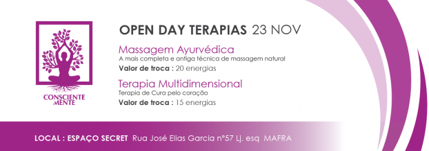 OPEN DAY - Massagem Ayurvédica & Terapia Multidimensional