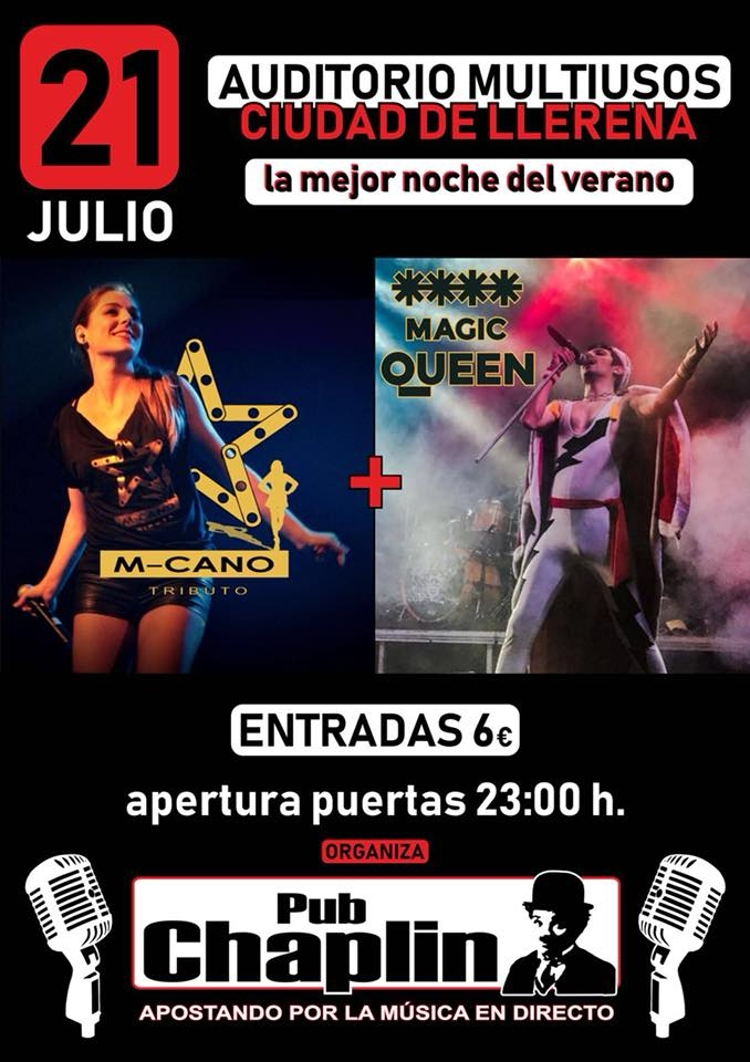 M-CANO Y MAGIC QUEEN en concierto // Llerena