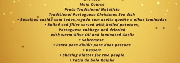 JANTAR NOITE DE NATAL - 24 Dezembro- CONSOADA