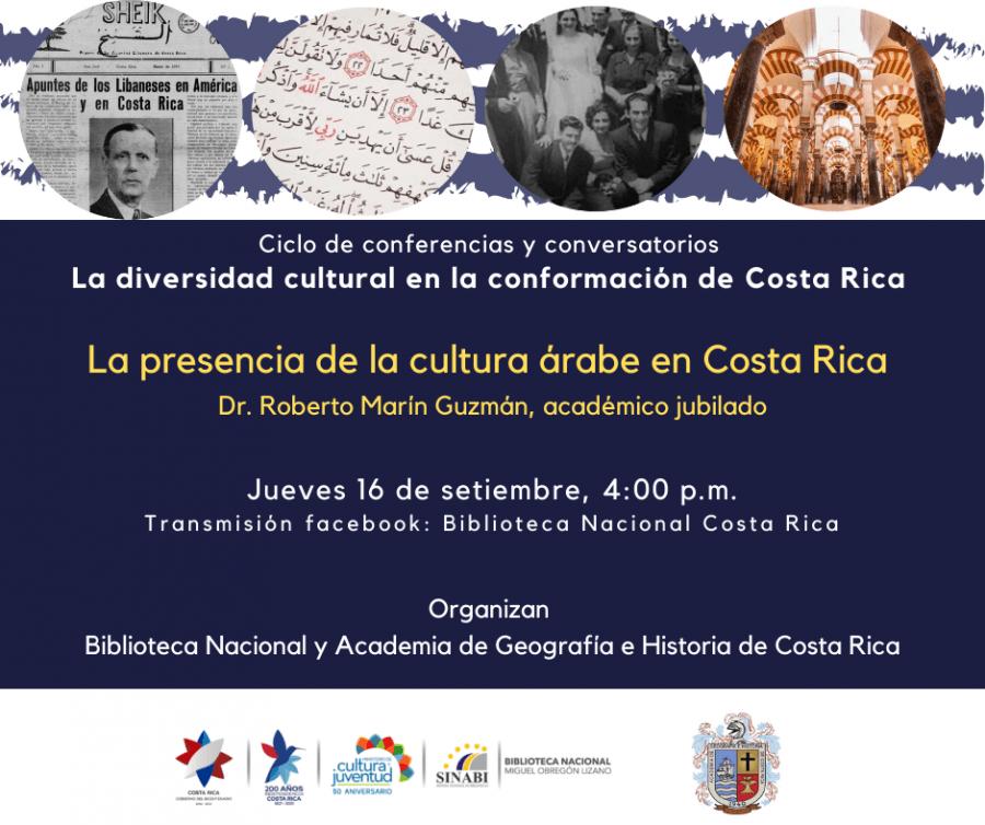 Conferencia. La presencia de la cultura árabe en Costa Rica