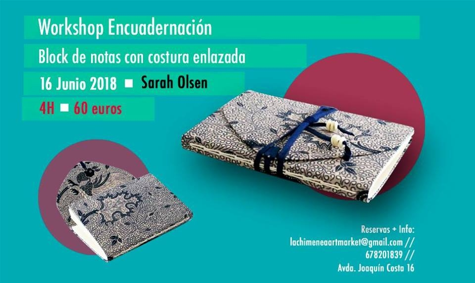 Workshop Encuadernación: Block de notas con costura enlazada