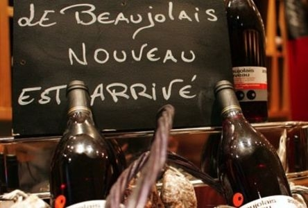Beaujolais nouveau. Fiesta de gala