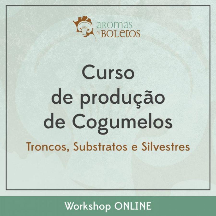 Curso Online de Produção de Cogumelos: Troncos, Substratos e Silvestres