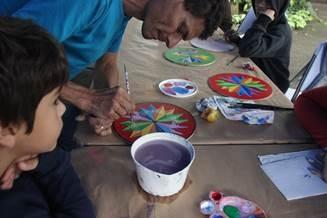 Pinturas de carretas típicas. Wilson Bonilla & Andrea Moreno