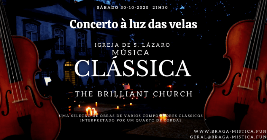 Concerto à luz das velas - Igreja de S. Lázaro - Quarteto de Cordas
