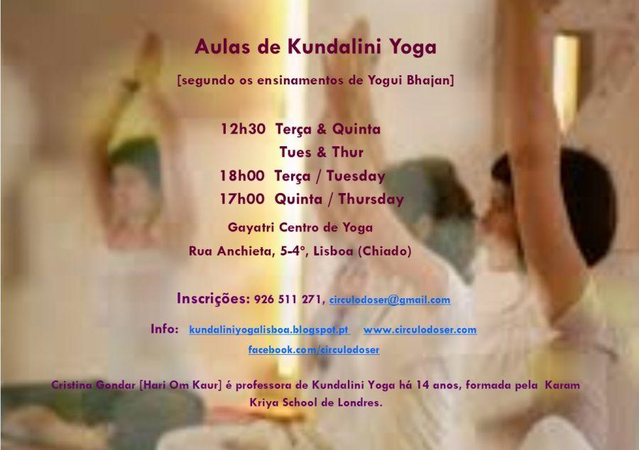 Aulas de Kundalini Yoga no Chiado