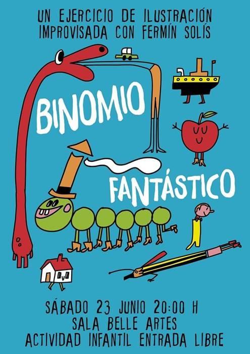 «Binomio fantástico» Ilustración improvisada con Fermín Solís || Sala Belle Artes