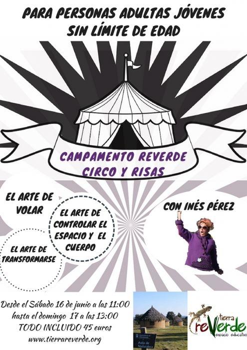 CAMPAMENTO PARA PERSONAS ADULTAS: CIRCO Y RISAS