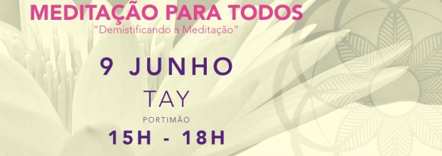 Workshop 'Meditação para todos' (Meditation for All)