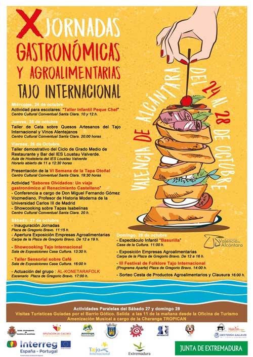 X Jornadas gastronómicas y agroalimentarias Tajo Internacional