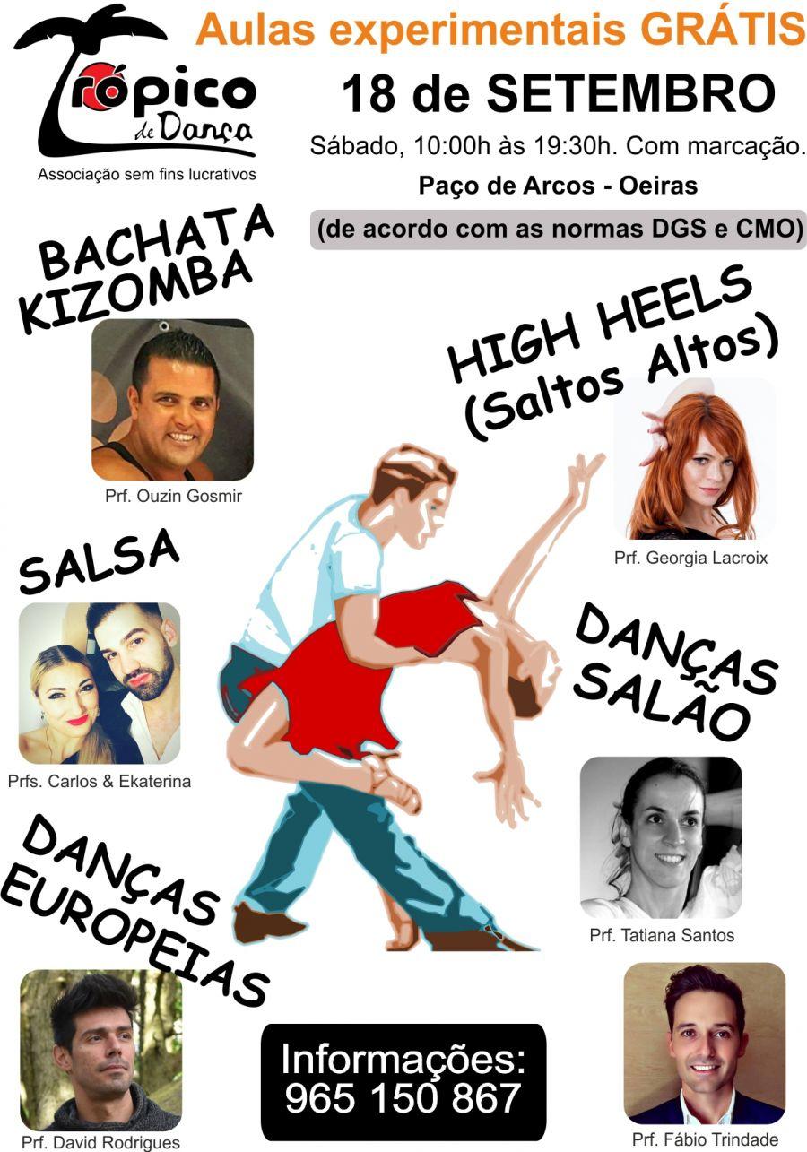 Aulas de Dança experimentais grátis