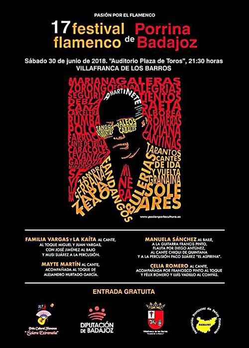 XVII Festival Flamenco Porrina de Badajoz - Villafranca de los Barros