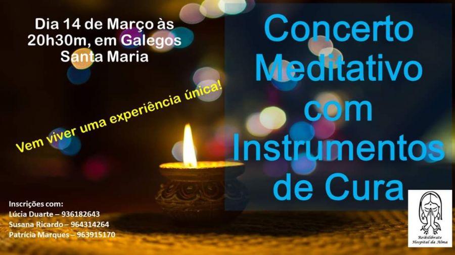 Concerto meditativo com instrumentos de cura