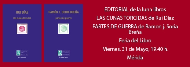 Presentación en la Feria del Libro de Mérida de los nuevos títulos de Rui Díaz y Ramón J. Soria Breña