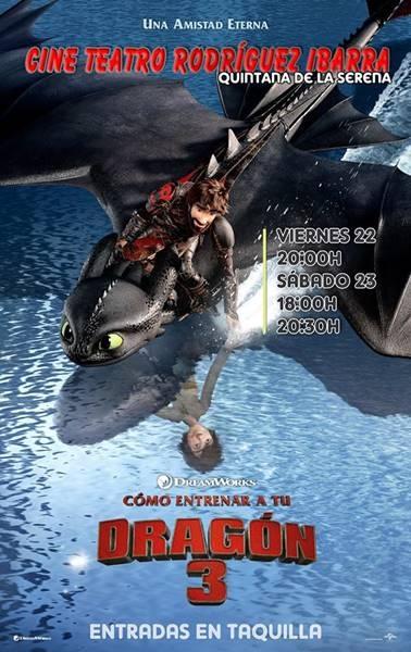 Proyección: 'Cómo entrenar a tu dragón 3' / Cine Teatro Rodríguez Ibarra