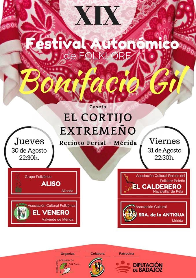 XIX Festival Autonómico de Folklore 'BONIFACIO GIL' en Mérida