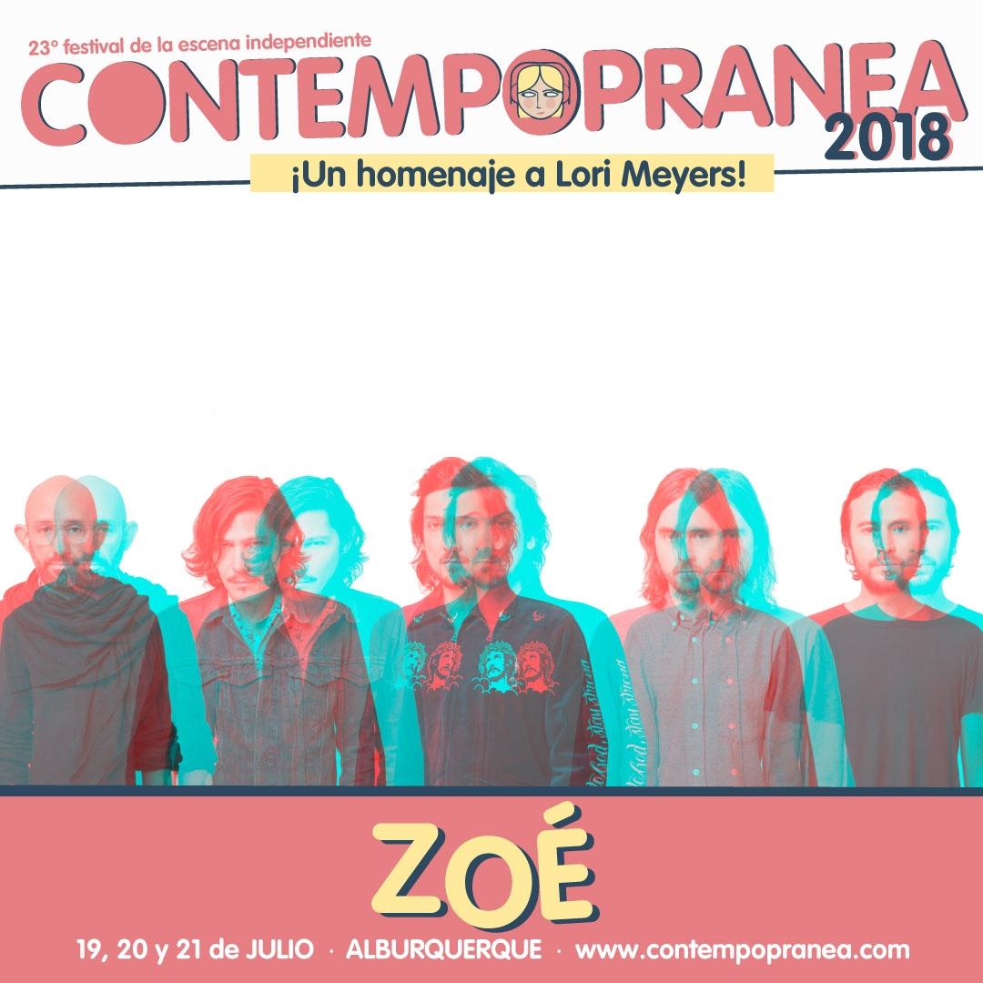 Sábado // ZOÉ // Escenario PASEO DE LAS LADERAS