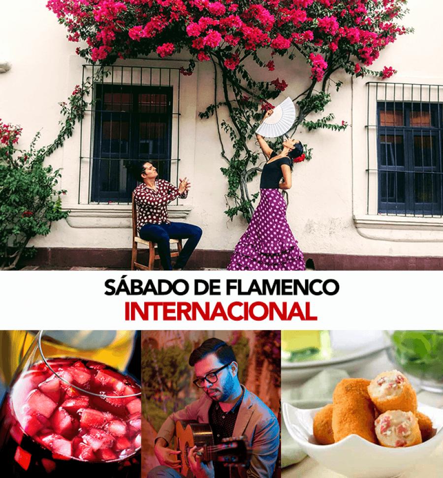 Tablao flamenco internacional & tapas. Castañuelas, guitarra y cante