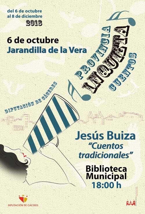 Provincia inquieta | CUENTACUENTOS: Jesús Buiza
