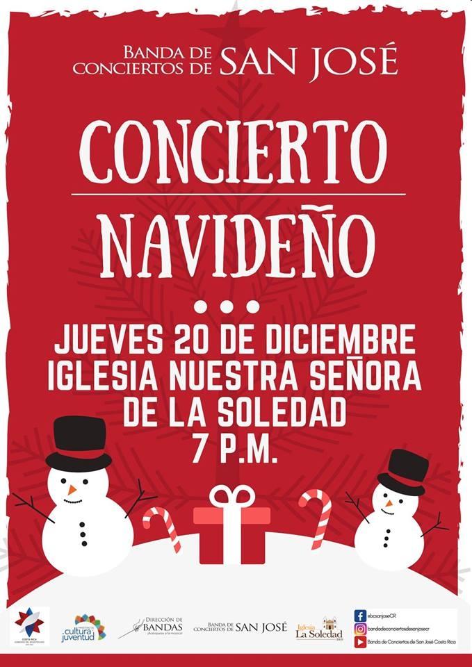 Concierto navideño. Banda de Conciertos de San José