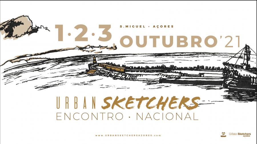 Encontro Nacional de Urbansketchers em São Miguel