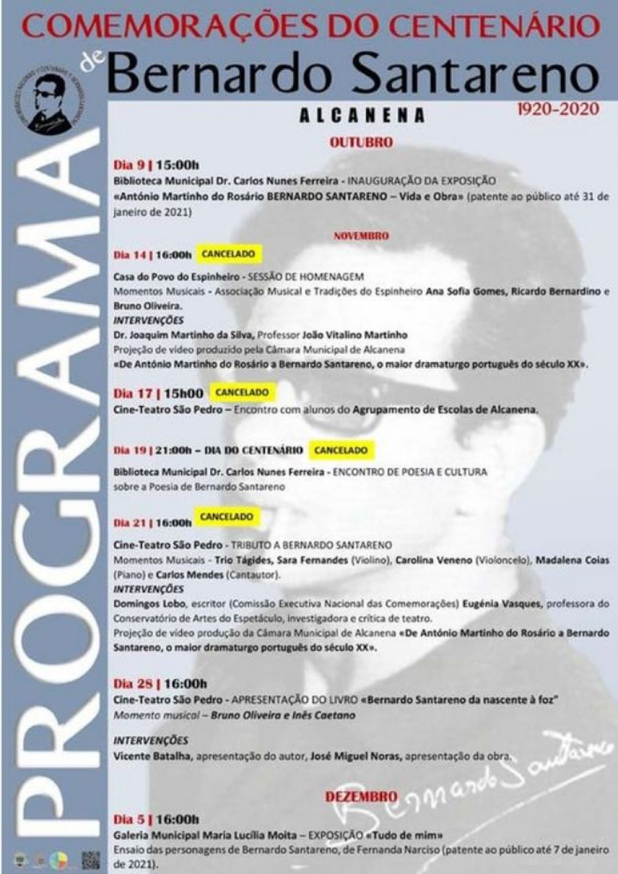 Programa de Comemorações do Centenário de Bernardo Santareno