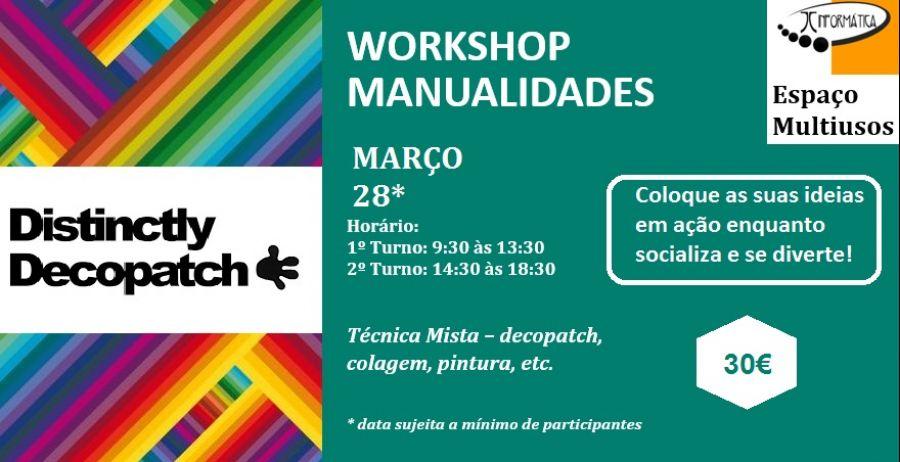 Workshop manualidades - Decopatch (dia da Mãe)