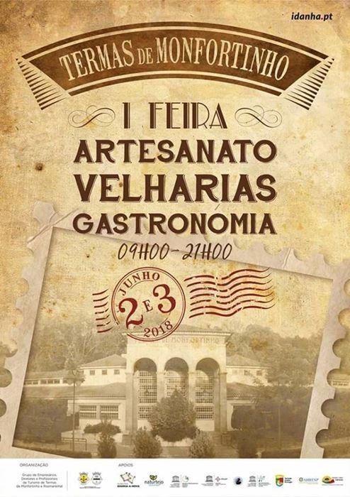 1ª Feira de Artesanato, Velharinas e Gastronomia    Termas de Monfortinho