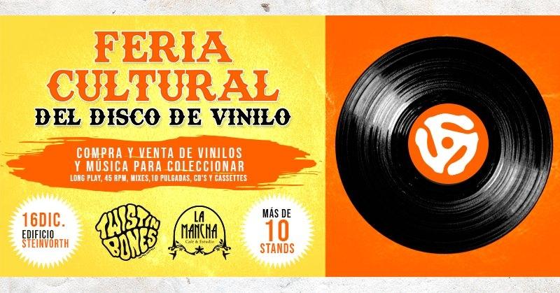 Feria cultural del disco de vinilo. Compra y venta de música