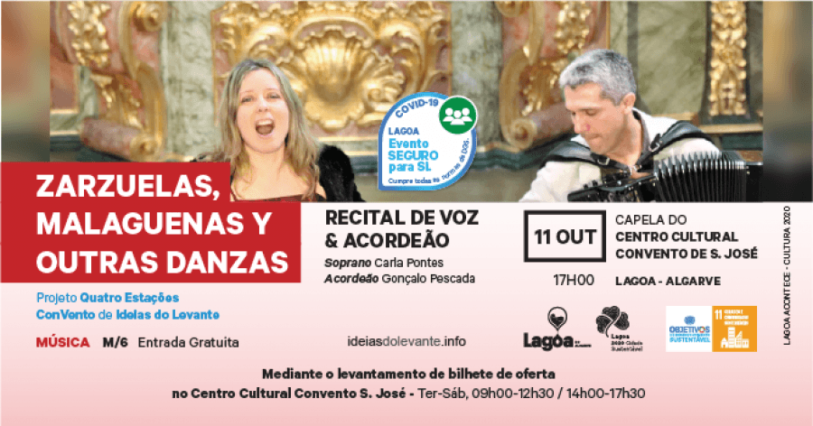 Recital de Voz & Acordeão | 'Zarzuelas, Malaguenas Y Outras Danzas'