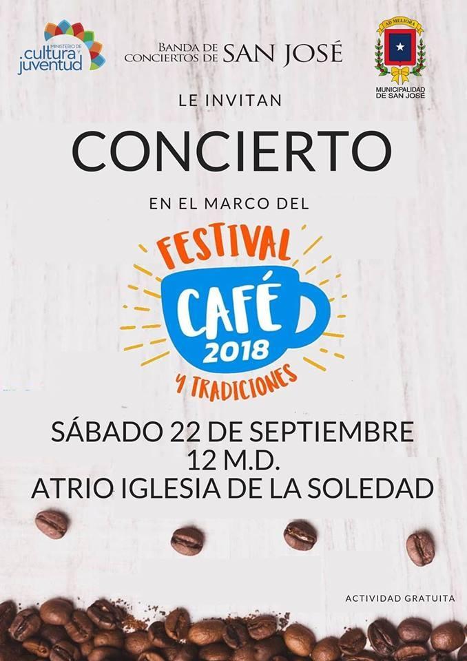 Concierto festival del café 2018. Banda de Conciertos de San José