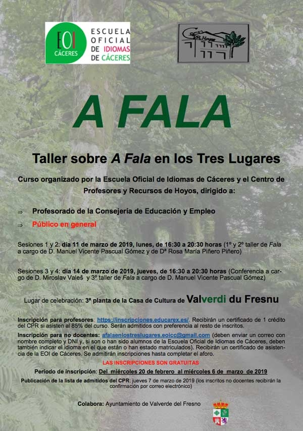 Curso sobre A Fala en Valverdi du Fresnu