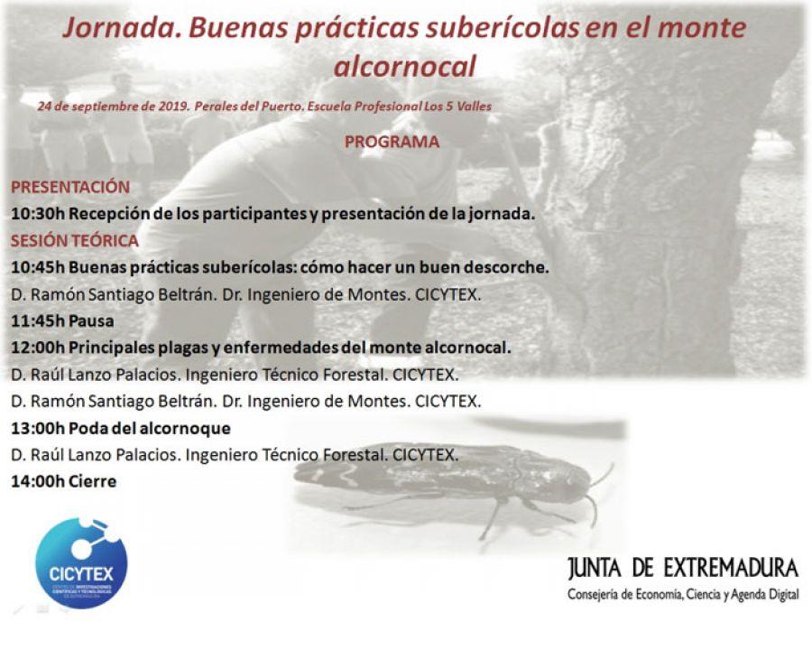 Jornada. Buenas prácticas suberícolas en el monte alcornocal. Perales del Puerto (Cáceres)