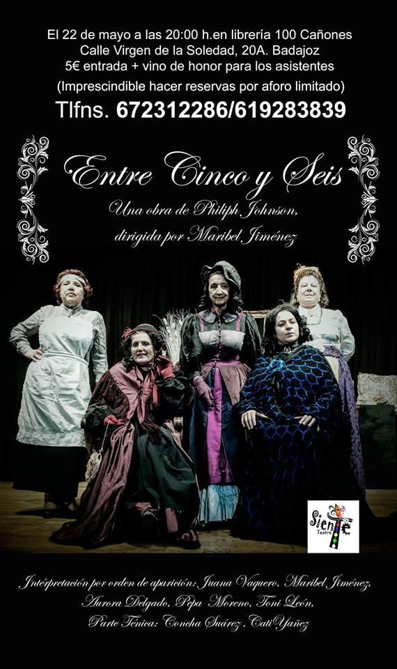 Teatro 'Entre cinco y seis' // Librería Cien Cañones