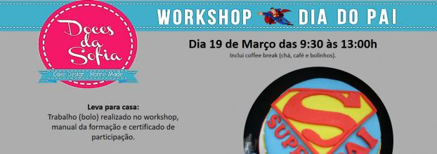 Workshop DIA DO PAI cake design