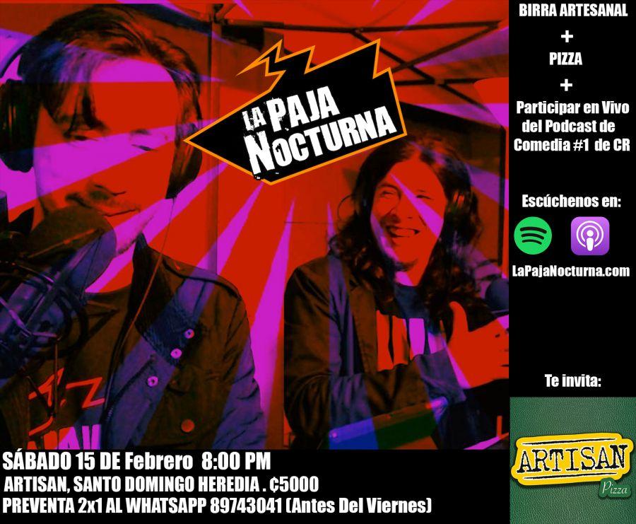 En vivo. La Paja Nocturna Podcast. Comedia