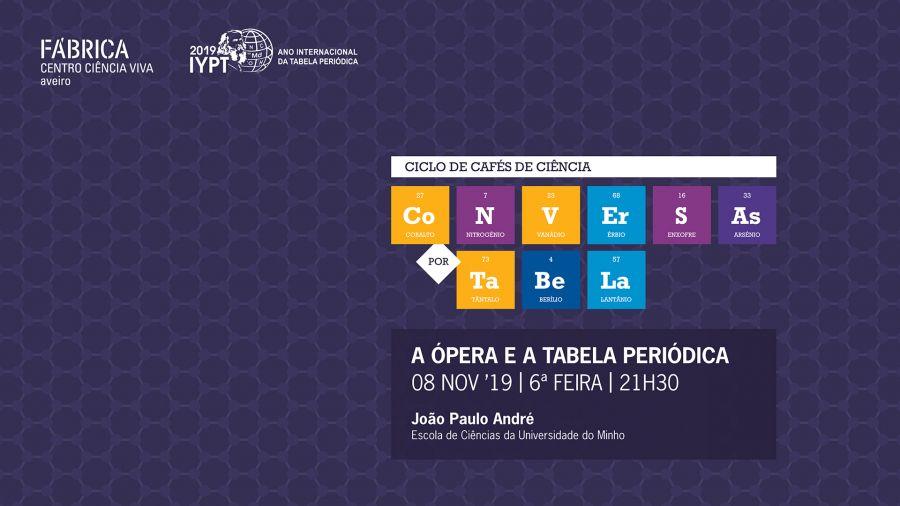 Conversas por Tabela - 'A ópera e a Tabela Periódica'