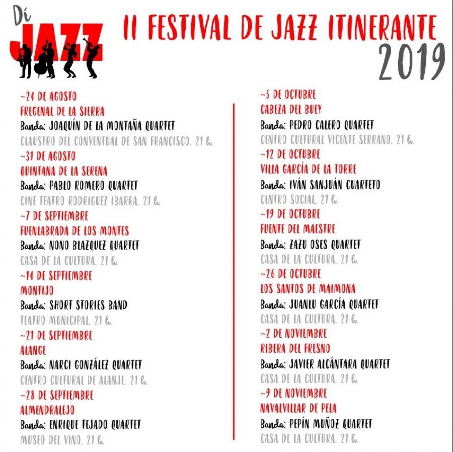 DíJAZZ // Festival Itinerante de Jazz de la provincia de Badajoz 2019