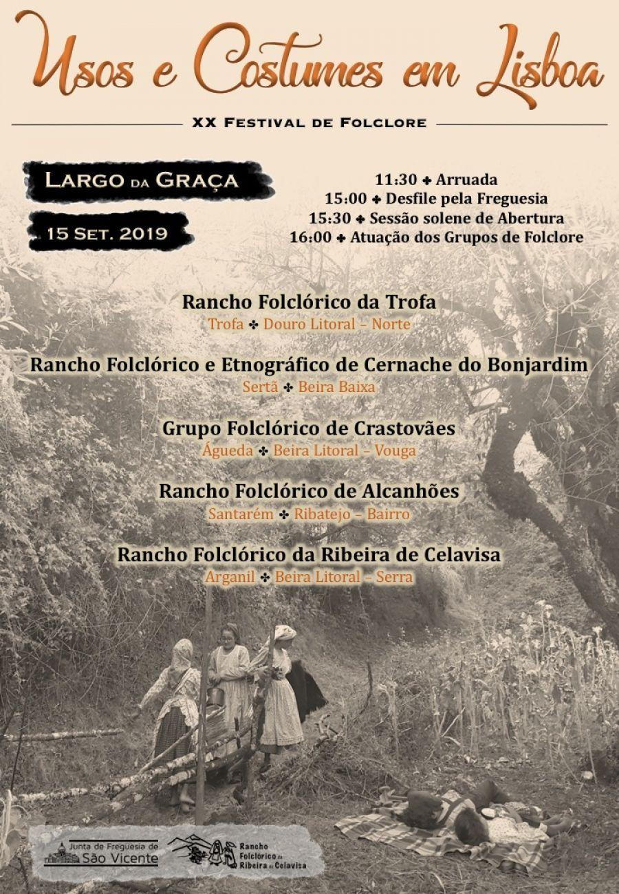 XX Festival de Folclore: Usos e Costumes em Lisboa