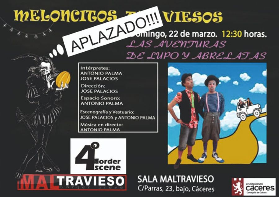 APLAZADO // Las aventuras de Lupo y Abrelatas. Teatro familiar