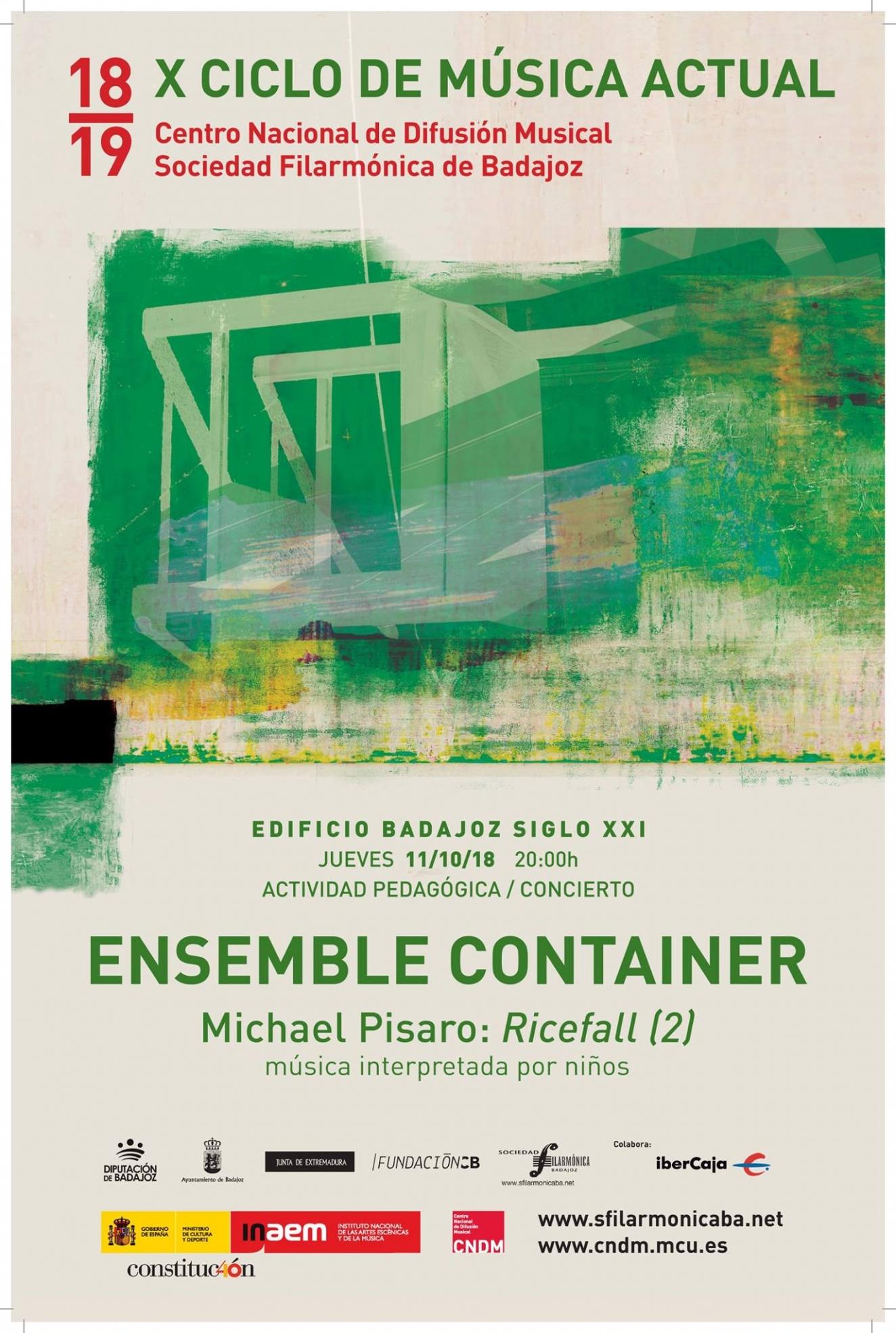 X Ciclo de Música actual    Ensamble container