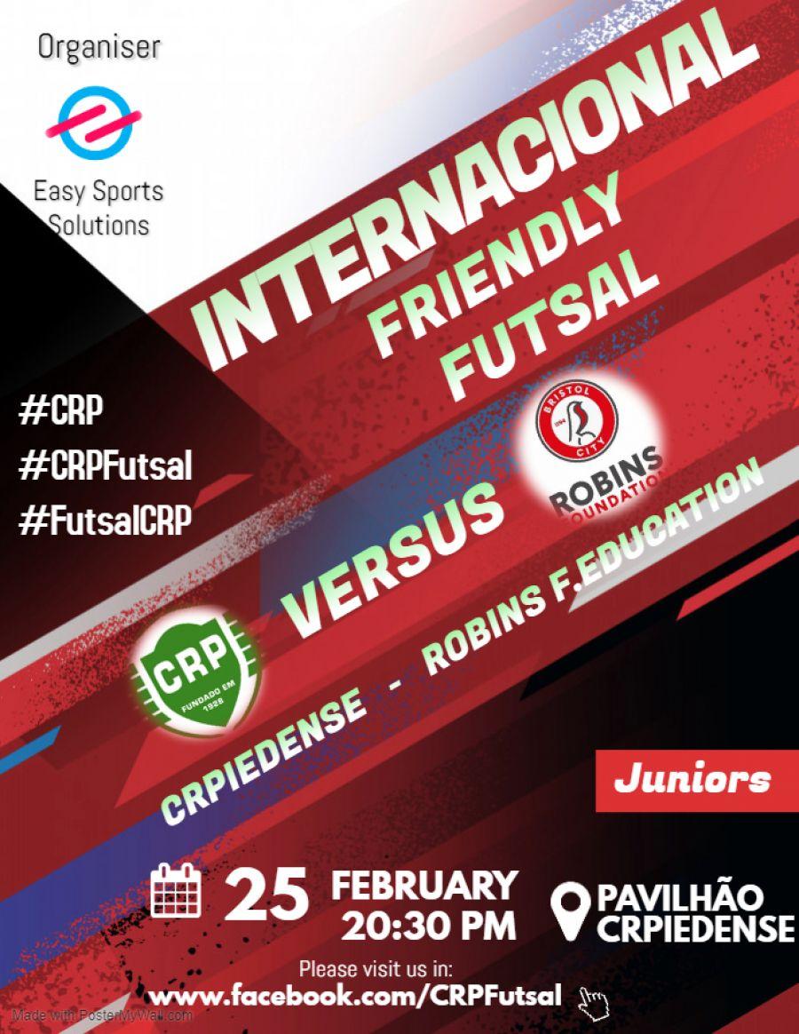 Futsal: CRPiedense -  Robins Foundation (Bristol City)