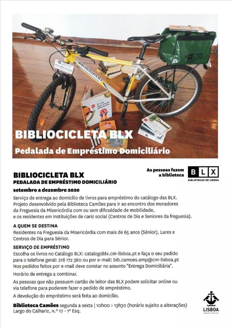 BIBLIOCICLETA BLX – Pedalada de Empréstimo Domiciliário