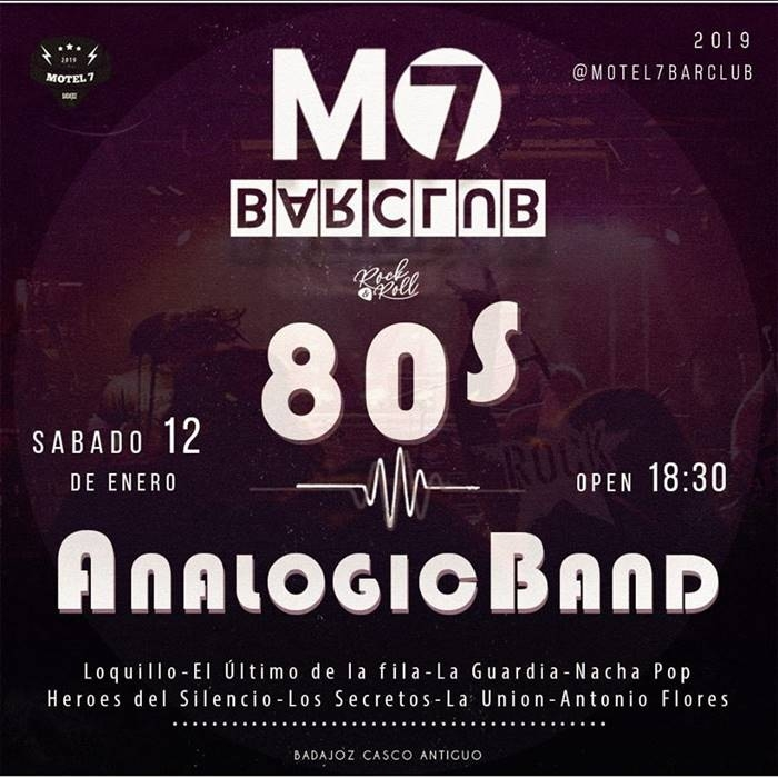 Concierto Analogic Band | Motel 7 Bar Club